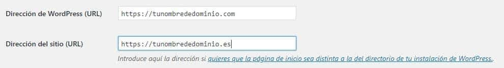 Cambiar URLs en WordPress